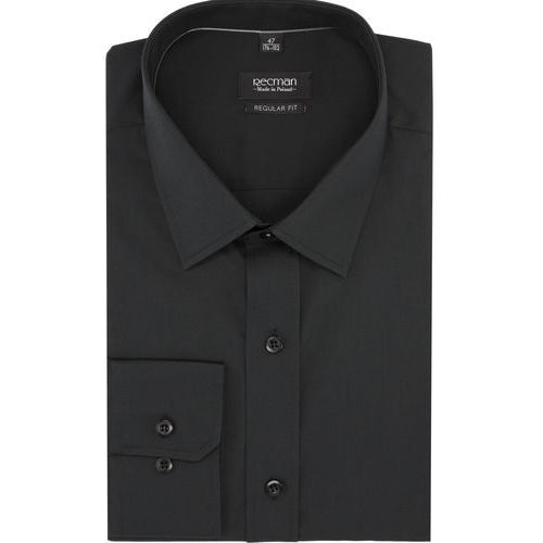 Recman Koszula versone cod4 długi rękaw regular fit czarny