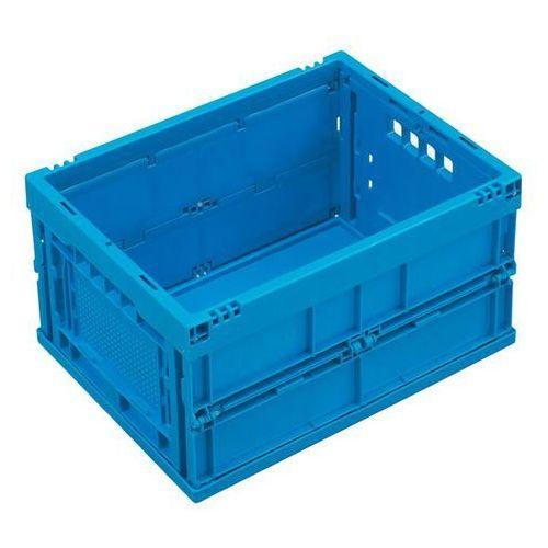 Pojemnik składany z polipropylenu, poj. 22 l, bez pokrywy, niebieski. Z poliprop