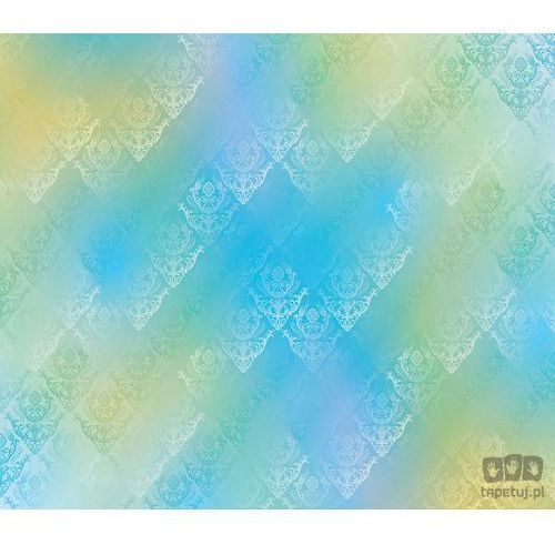 Fototapeta tradycyjne kwiatowe wzory – niebiesko-żółte odcienie 1465 marki Consalnet