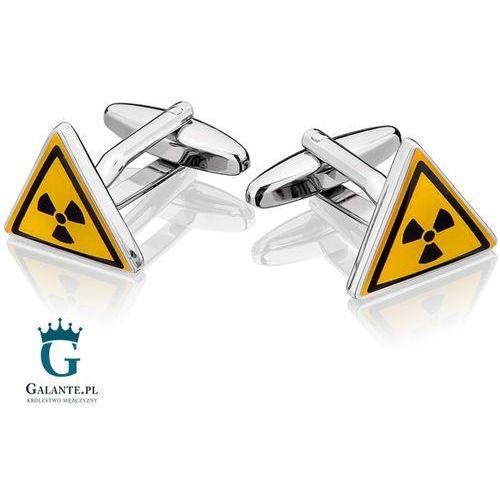 Galante Spinki do mankietów x2 uwaga! zagrożenie promieniotwórcze
