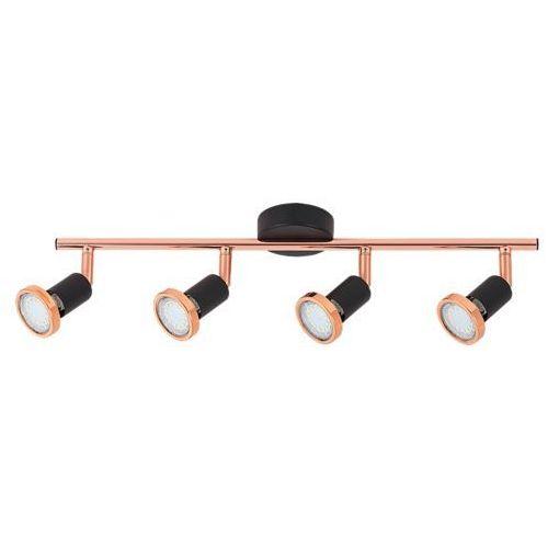 Listwa lampa sufitowa Rabalux Valentine 4x50W GU10 czarny mat/miedź 6849