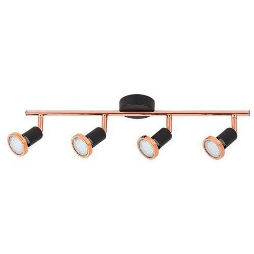 Listwa lampa sufitowa Rabalux Valentine 4x50W GU10 czarny mat/miedź 6849, 6849