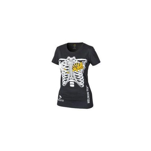 t-shirt Helikon damski kameleon w klatce piersiowej czarny (TS-WCT-CO-01), TS-WCT-CO-01