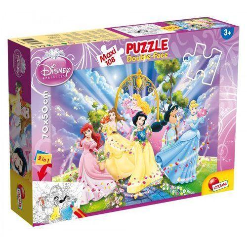 Puzzle dwustronne maxi Księżniczki 108