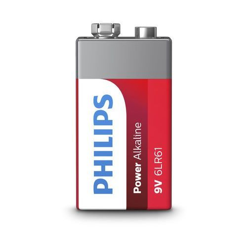 Philips 9V 1 szt Power Alkaline (6LR61P1B/10), 8670 000 64107