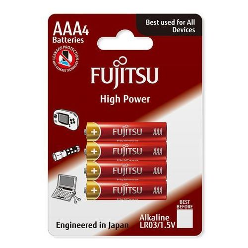 Fujitsu 4 x bateria alkaliczna high power lr03 aaa blister