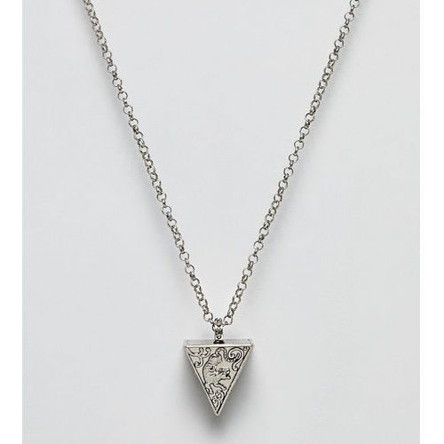 Sacred Hawk necklace with triangle pendant - Silver