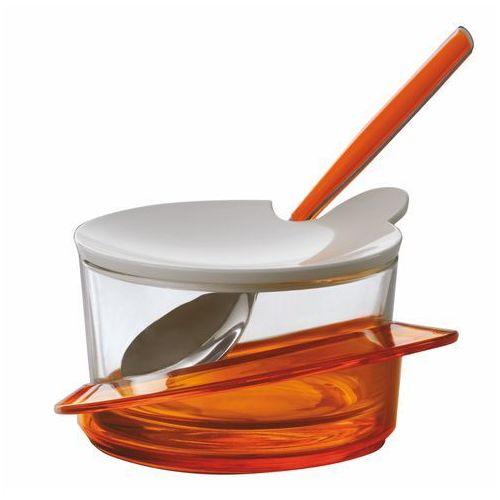 Cukiernica | pojemnik na parmezan bugatti glamour pomarańczowa marki Casa bugatti