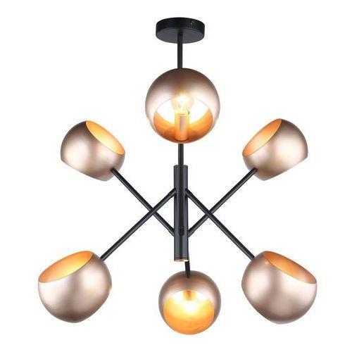 Lampa wisząca Cavazza 6 x 40 W E14 black/gold, MDM-3690/6 BK+GD