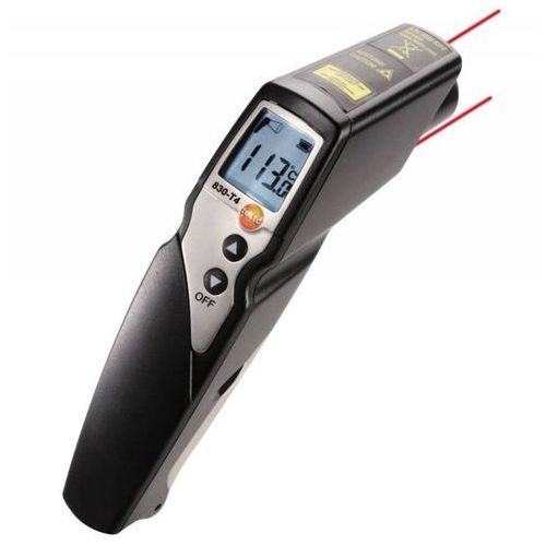 Pirometr dwulaserowy, termometr bezdotykowy na podczerwień, 2-kanałowy, z gniazdem K, TESTO 830-T4