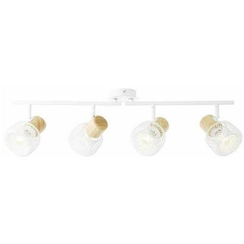 Brilliant gabby 86232/75 plafon lampa sufitowa 4x28w e14 biały/drewno