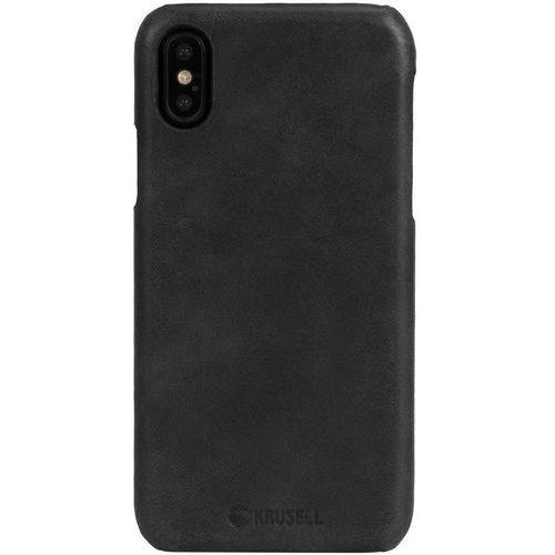 Krusell Sunne Cover - Skórzane etui iPhone X (Black), 61105