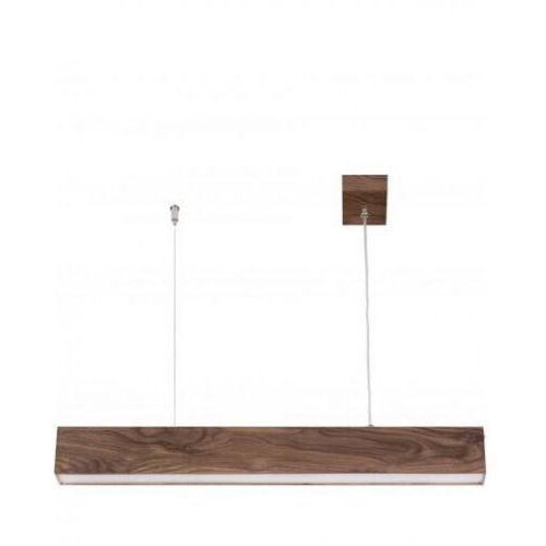 Sigma futura lux wood 90 32947 lampa wisząca zwis 1x18w led orzech (5902846811732)