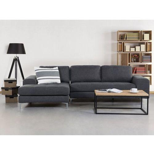 Beliani Sofa ciemnoszara - sofa narożna - tapicerowana - kiruna