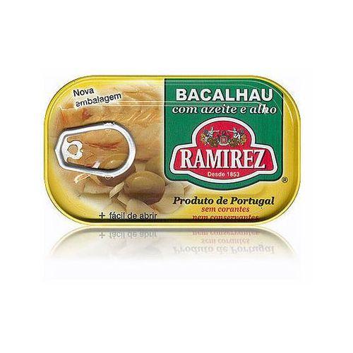 Bacalhau dorsz po portugalsku w oliwie z oliwek z czosnkiem Ramirez 120g
