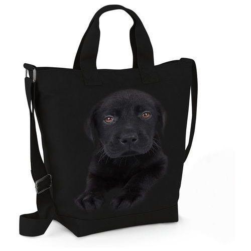 Torba Labrador Czarny Szczeniak, kolor czarny