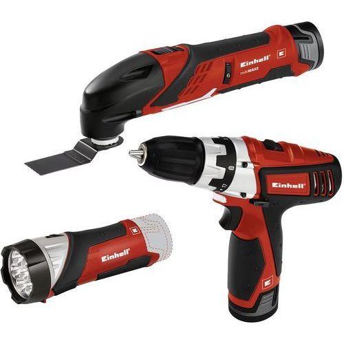 Zestaw narzędzi akumulatorowych EINHELL wkrętarka + multitool + latarka 2x1,3Ah TE-TK 12 Li