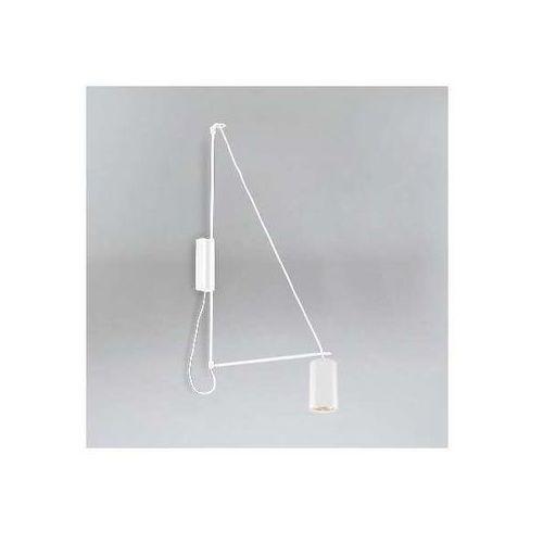 Kinkiet LAMPA ścienna KABE 9016/GU10/BI Shilo metalowa OPRAWA na wysięgniku tuba biała (1000000427868)
