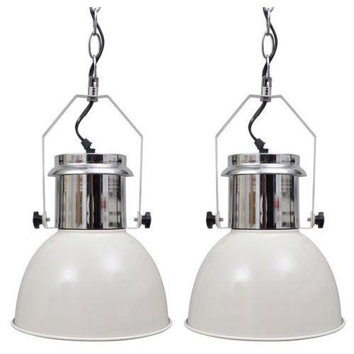 vidaXL Nowoczesna, biała lampa wisząca x 2