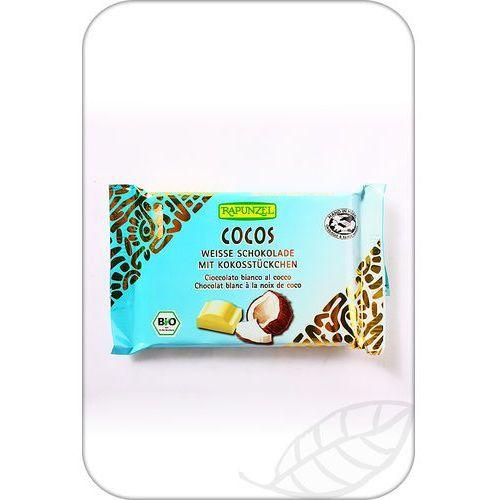 : czekolada biała z wiórkami kokosowymi bio - 100 g wyprodukowany przez Rapunzel