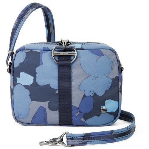Pacsafe Citysafe CX Square Crossbody torebka damska antykradzieżowa na ramię RFID / Blue Orchid - Blue Orchid, kolor niebieski