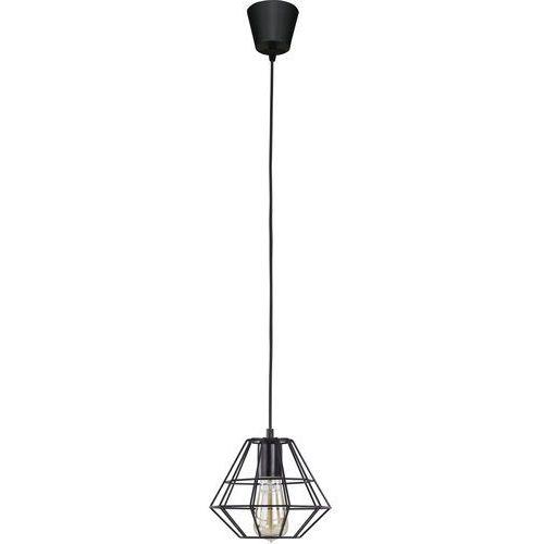 Tklighting Lampa wisząca druciana zwis żyrandol diament tk lighting diamond 1x60w e27 czarna 845 (5901780508456)