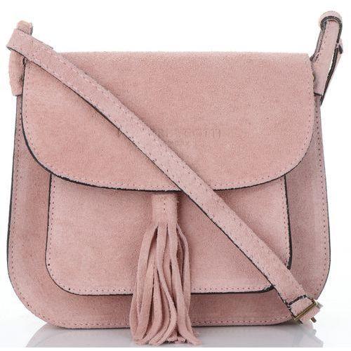 a71c1c6fb839a Vittoria gotti Damskie torebki skórzane listonoszki renomowanej marki w  całości wykonane z wysokiej jakości zamszu naturalnego
