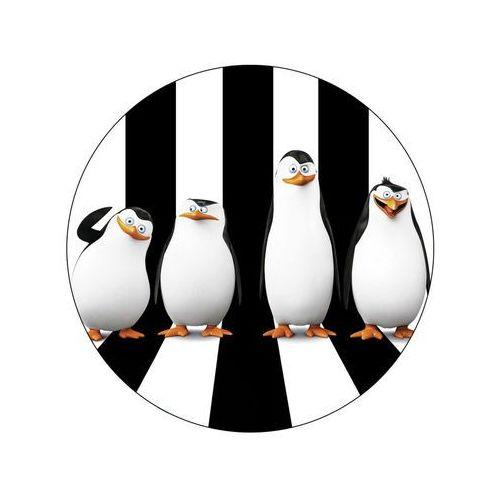 Smakop Dekoracyjny opłatek tortowy pingwiny z madagaskaru - 20 cm