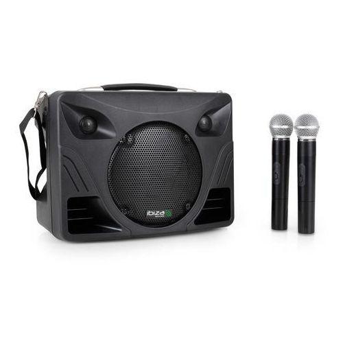 Ibiza port85vhf-bt przenośny głośnik bluetooth z 2 mikr. bezprzewodowymi