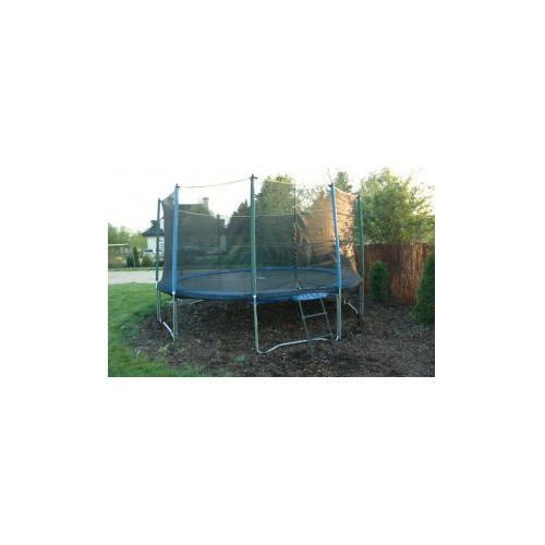 427 cm pro (14ft) - trampolina ogrodowa z siatką zabezpieczającą i drabinką marki Euro