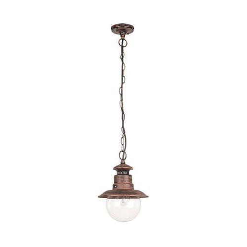 Lampa wisząca zewnętrzna Rabalux Odessa 1x60W E27 IP44 antyczny brąz 8164 (5998250381640)