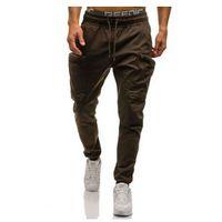 Spodnie joggery bojówki męskie brązowe Denley 0475, bojówki