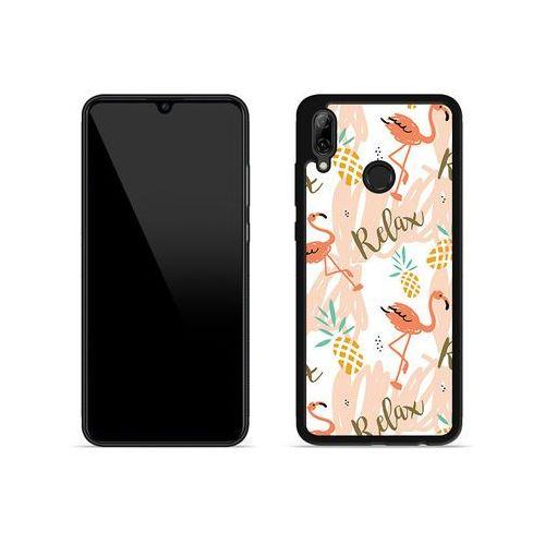 Huawei P Smart (2019) - etui na telefon Aluminum Fantastic - różowe flamingi