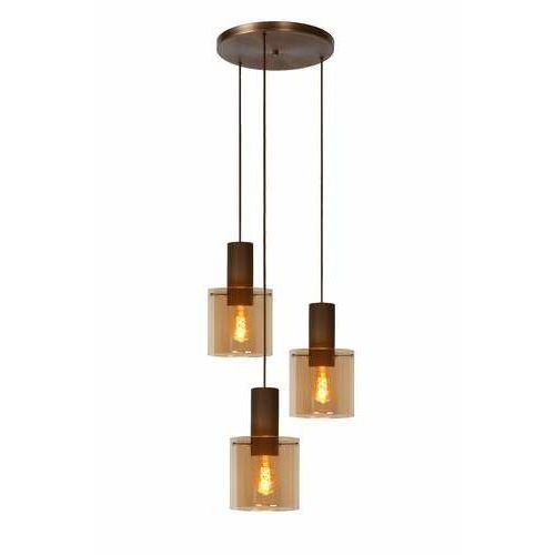 Lucide Toledo 74405/13/62 lampa wisząca zwis 3x40W E27 bursztynowy, 74405/13/62