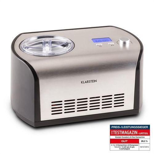 Klarstein snowberry & choc maszyna do lodów 1,2 l utrzymywanie niskiej temp. (4260395868166)