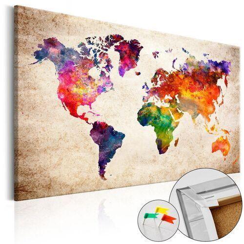 Obraz na korku - kolorowe uniwersum [mapa korkowa] marki Artgeist