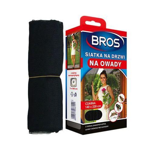, czarna siatka na drzwi zabezpieczająca pomieszczenia przed owadami, 140x220cm marki Bros