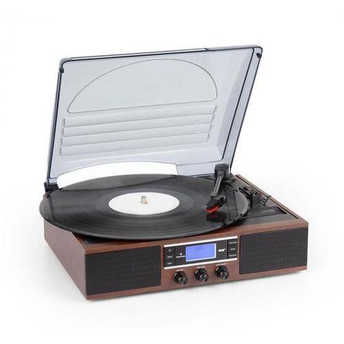 Auna TT-138 DAB, gramofon, DAB + / FM, napęd pasowy, 33/45 obr./min, wyjście liniowe (4060656161087)