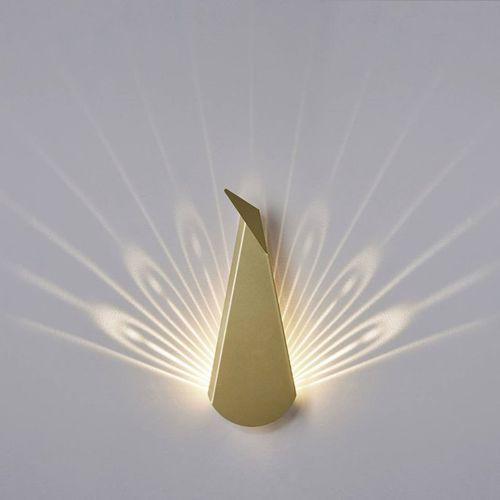 Popup lighting Aluminium peacock-kinkiet led paw z wtyczką wys.37cm (3663710135133)