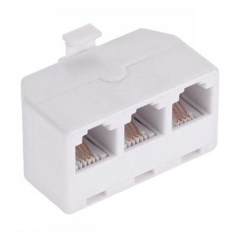 Import Rozgałęziacz telefoniczny 4 pinowy wtyk rj11/ 3x gniazdo rj11