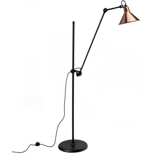 Lampe Gras N°215 - lampa podłogowa - czarny/miedziany/biały, kolor czarny/miedziany/biały
