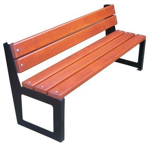 Metalowa ławka siedziskiem z listew Stadio II
