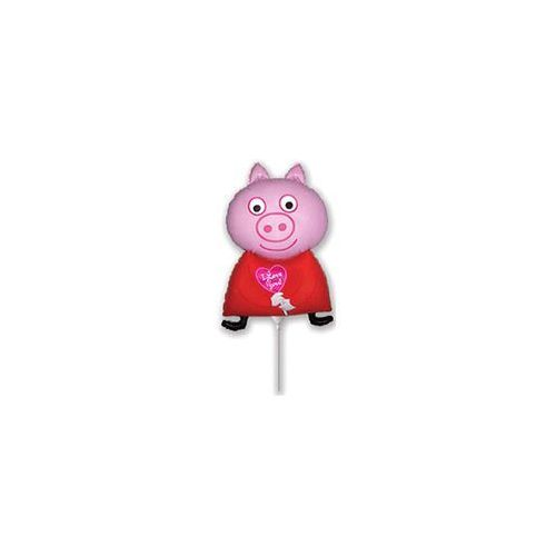 BALON FOLIOWY ŚWINKA PEPPA I LOVE YOU 14'' 1szt