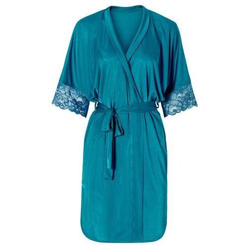 Bonprix Szlafrok kimono niebieskozielony