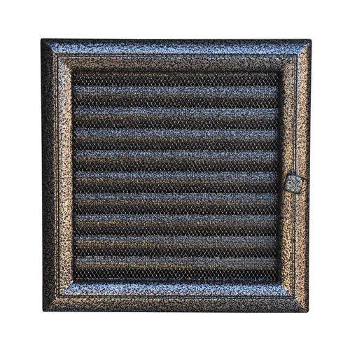 kratka kominkowa oskar czarno-srebrna z żaluzją 170x170 mm marki Kratki