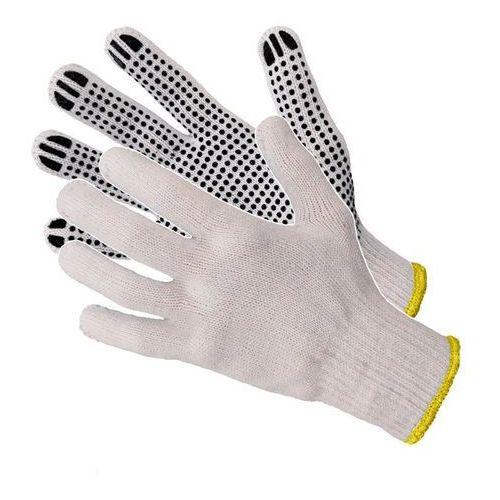 Rękawice dziane nakrapiane w różnych kolorach Art Master RND400 10 niebieskie