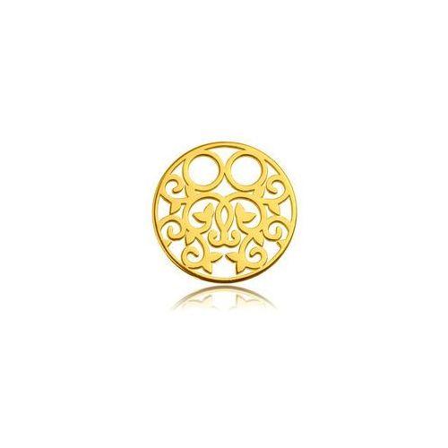 Blaszka Celebrytka Okrągła - ażurowa, złoto próba 585, BL 261-AU