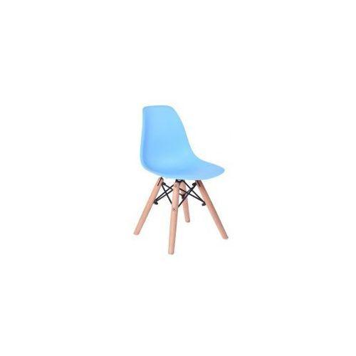 Krzesło Monza Kids - małe krzesełko dla dziecka w kolorze niebieskim