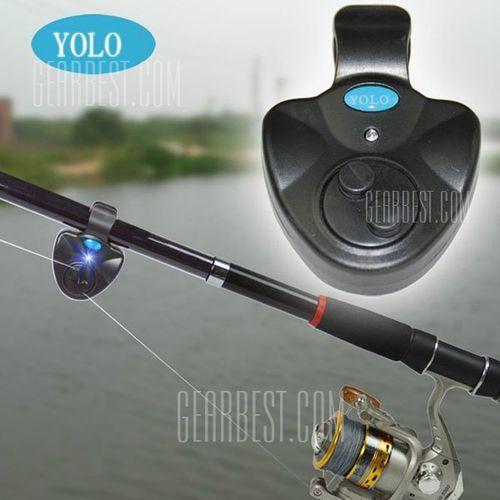 Yolo electronic led light fish bite alarm bell finder sound alert clip on fishing rod od producenta Gearbest