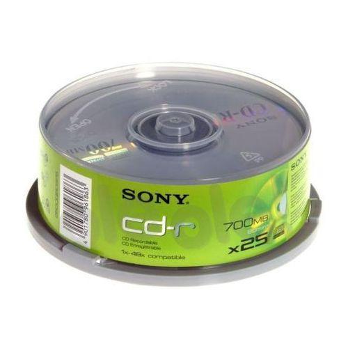 Sony  cd-r 48xspeed (cake 25 szt.) - produkt w magazynie - szybka wysyłka!